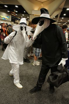 Spy vs Spy....halloween costume for Josh and I perhaps?