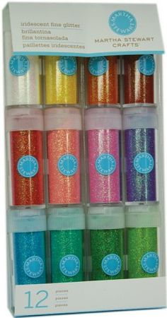 Martha Stewart Crafts Iridescent Glitter, 12-Pack