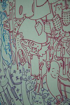 ELA :: Ela y sus vecinas. Detalle. Cultural Center, Chowders, Drawings
