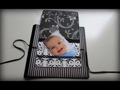 Tutorial decoración página scrap con tarjetas superpuestas. - YouTube