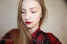 Seventeen All Day Lip Color #08 Dark Red