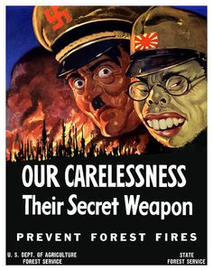 American poster, 1943:  Our Carelessness - Their Secret Weapon.