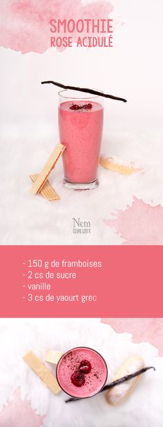 A teatime smoothie / Smoothie pour le goûter. Smoothie Prep, Raspberry Smoothie, Apple Smoothies, Juice Smoothie, Smoothie Drinks, Healthy Smoothies, Healthy Drinks, Smoothie Detox, Smoothie Blender