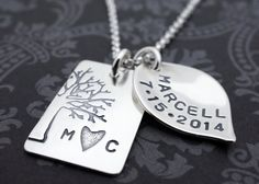 Personalized Woodland Necklace Under the by EclecticWendyDesigns