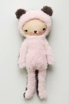 Pink and Gray mash up bear