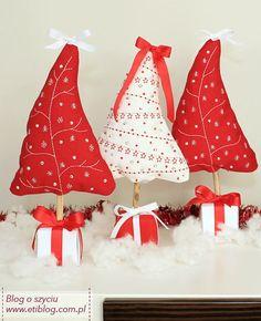 Świąteczne projekty- dekoracyjna choinka - blog o szyciu
