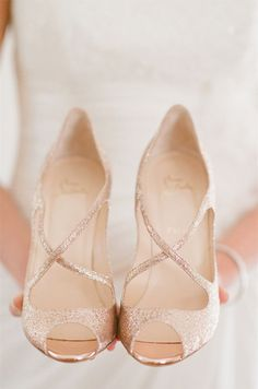 Color Inspiration: Shimmering Gold Wedding Ideas - wedding shoes