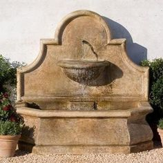 Garden Wall Fountains-Outdoor Wall Fountains Outdoor wall fountains come in a number of patinas and finishes to match your outdoor decor. From classic gray sto