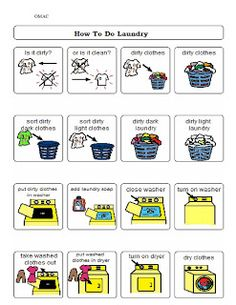 1000 images about teach daily living skills on Life Skills Lessons, Life Skills Activities, Life Skills Classroom, Teaching Life Skills, Activities Of Daily Living, Special Education Classroom, Therapy Activities, Teaching Tools, Autism Classroom
