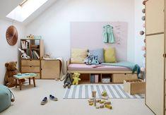 Lego, togbaner og dukketøj. Børn har brug for masser af opbevaring – og små, smarte tricks, der gør det let at holde orden på værelset.