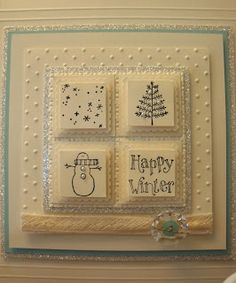 Try for card front with smaller layers. Happy Winter Sampler