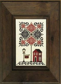 """SALE! Leafy Lane by Stone Street Stitchworks is a cross stitch pattern of a welcoming house under an ornate tree. Its colors give the piece a patriotic feel, but it is still suitable for general stitching as well. Design Size: 70W x 105H Stitched Size: 4.4"""" x 6.6"""" at 16 stitches per inch Threads: DMC (not included) The pattern features only full crosses (no fractional stitches, no backstitching). This listing is for an instantly downloadable printable pattern only. Patterns cannot be…"""