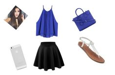 """""""Blue"""" by alanij1106 ❤ liked on Polyvore featuring Apt. 9 and Yves Saint Laurent"""