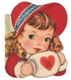 Vintage Valentine greeting card girl ringlets muff hat heart A Meri Card Valentines Greetings, Valentine Greeting Cards, Vintage Valentine Cards, Vintage Greeting Cards, Greeting Cards Handmade, Vintage Postcards, Christmas Greetings, Merry Christmas, Christmas Quotes