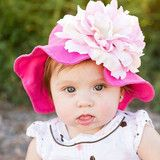 Raspberry Ice Baby Sun Hat - for baby girls and toddlers #Melondipity