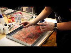 Marmorização de Papéis no Velho Livreiro   Paper Marbling - YouTube