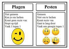 Afbeeldingsresultaat voor verschil tussen pesten en plagen