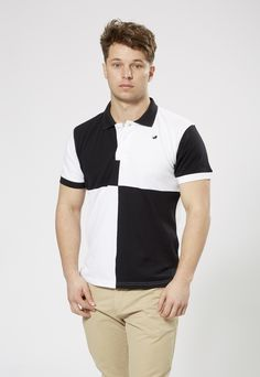 FARU Classic Polo - black & white harlequin. 10% of all sales goes to animal conservation.