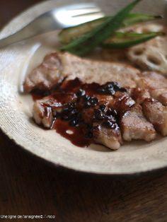 トンテキ・実山椒赤ワインソース。 by ささきのりこ。さん   レシピ ...