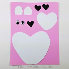 Here's a cute Valentine's Day craft to do with the kids! Make a heart polar bear <3 Supplies Needed: 2 white card stock papers 1 black card stock paper Googly eyes Sharpie Scissors Glue Start by cutting out a large rounded heart, two small ears, and a smaller rounded heart. Then cut out three black …