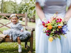 Pronovias Pretty for a Colourful Autumn Country House Wedding Wedding Bouquets, Wedding Flowers, Wedding Dresses, Dresses Uk, Flower Girl Dresses, Tutu, Pronovias, Gray Weddings, Floral Crown