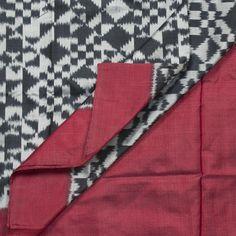 Karghaa Handwoven Tussar Ikat Silk Sari 1002553 - Sari / Ikat - Parisera