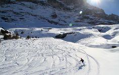 Skiing the Whtie Hare off-piste run at Wnegen Kliene Scheidegg Switzerland in the Jungfrau www.luxuryskitrips.com