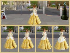 The Sims 4 - Pose Princess of Child - Cris Paula Sims The Sims 4 Pc, Packs The Sims 4, Sims Four, Sims 4 Toddler Clothes, Sims 4 Cc Kids Clothing, Sims 4 Cc Eyes, Sims Cc, Sims 4 Mods, Sims 4 Wedding Dress