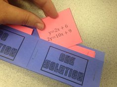 Grab this FREE sorting activity to help students identify how many solutions exist for a system of equations. Then, check out all 9 teaching tools and activity ideas. Math Teacher, Math Math, Multiplication, Fractions, Math Games, Maths, Student Learning, Teaching Tools, Systems Of Equations