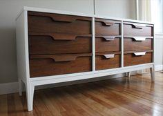 Best Mid Century Nine Drawer Lowboy Dresser Ward Furniture 400 x 300