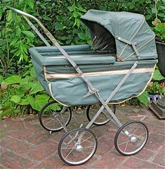 Antique Doll Baby Stroller.  Circa 1946:  It was collapsible.  I had an antique china-headed doll that was my mother's riding in the buggy. My brother came in and collapsed the buggy, breaking the doll's head into pieces.  I cried!  I'm still mad at him for doing that!