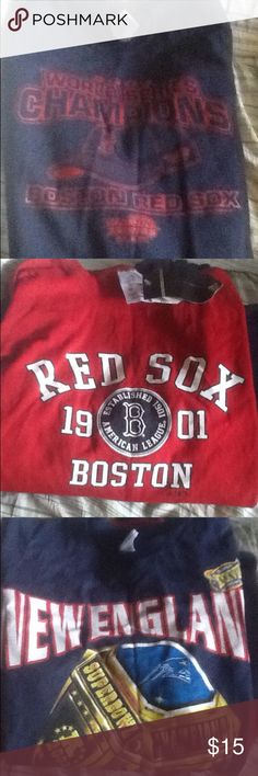 Boston sports teams New England Patriots tshirt - Lg -- New England Patriots tshirt - sz - Medium --brand new Boston Red Soc tshirt - sz  medium -  Boston Red Sox Sweatshirt size - large Other