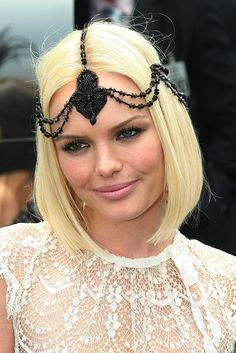 Kate Bosworth - love this headpiece!