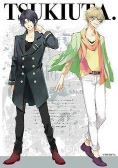 Haru and Hajime Cool Anime Guys, Hot Anime Boy, Anime Boys, Magical Warfare, Character Art, Character Design, Tsukiuta The Animation, Wise Monkeys, Boy Idols