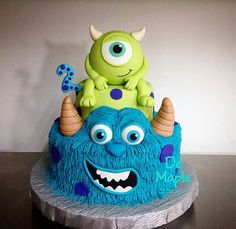 Monster 1st Birthdays, Monster Inc Party, Monster Birthday Parties, Thomas Birthday, 1st Boy Birthday, Alien Cake, Monster Inc Cakes, Monsters Inc Baby Shower, Boys First Birthday Party Ideas