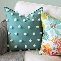 Add whimsical texture to a plain pillow cover. A quick and easy no-sew project!