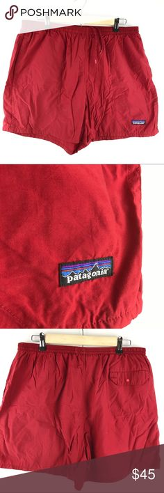 Patagonia Shorts Large Red Swim Trunks Mesh pocket Patagonia swim trunks that can easily be converted to shorts by cutting out the mesh. Great overall condition Patagonia Shorts Athletic