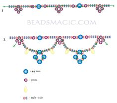 Free pattern for beautiful beaded necklace Cindy | Beads Magic