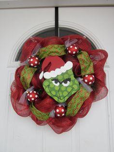Grinch Christmas wreath..Love it!