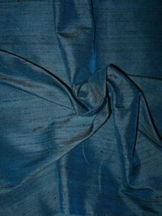 Dupionseide Petrol-Intense, petrolblau changierende Dupionseide