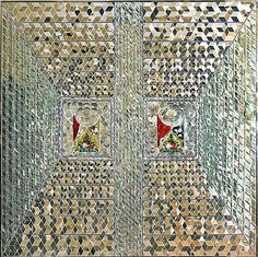 Beautiful mirror-cutting work by Iranian artist Monir Shahroudy Farmanfarmaian