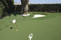 Césped para golf Verdalia #cespedartificial #cespedsintetico #cespeddeportivo #golf #tee #green #bunkers #lagos #verdalia