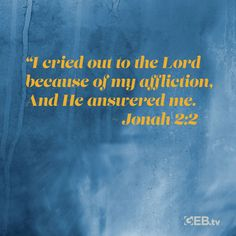 "Talk to God; ask Him the hard questions.  He will answer. ""I cried out to the Lord because of my affliction, And He answered me. Jonah 2:2 #VerseOfTheDay #HelpingYouLiveWell"