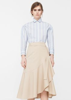 Midi ruffled skirt -  Woman | MANGO United Kingdom