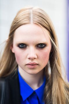 pin for later plan your nyfw look with these inspiring beauty street style snaps lfw beauty street style fall 2014 would you dare try bleached brows