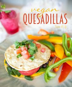 Make the most of your lunch with meals that will make your skin glow. Try these vegan quesadillas from @toneitup - just grab some spinach, black beans and corn tortillas to get  started!