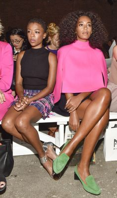 Dailyactress: Samira Wiley and Solange Knowles attend the Milly...