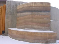 Rammed Earth Bench