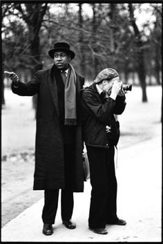 Andre Leon Talley and Bill Cunningham, photographed by Arthur Elgort in 1984