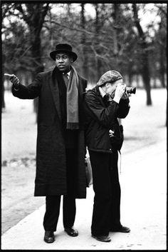 Andre Leon Talley and Bill Cunningham, 1984  Arthur Elgort  %>